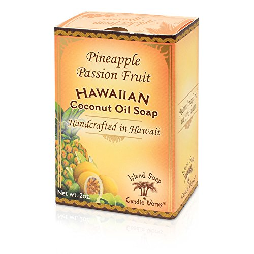 Island Soap & Candle Works Handmade Coconut Soap, Pineapple/Passion Fruit