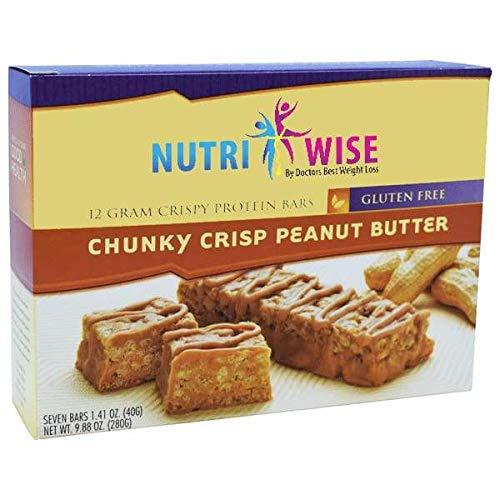 Peanut Butter Dream Bar - NutriWise - Chunky Peanut Butter Crispy High Protein Diet Nutrition Bar (7/box)