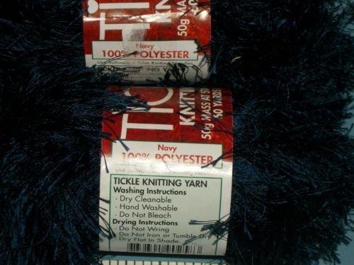 - Tickle Knitting Eyelash Yarn - Navy Blue