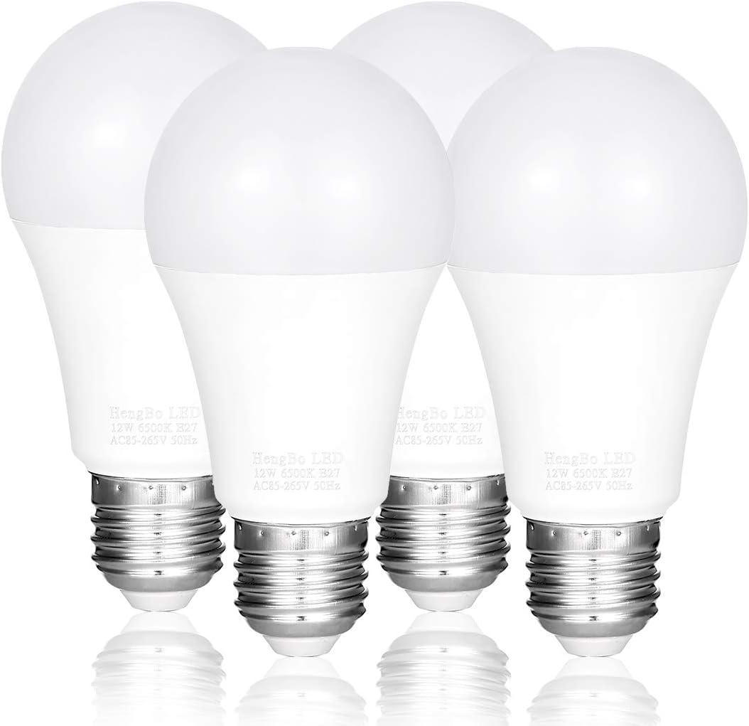Amazon Com Hengbo E26 Led Bulb 100 Watt Equivalent 1200 Lumens Medium Screw Base Non Dimmable Light Bulb 6500k Daylight White 4 Pack Home Improvement