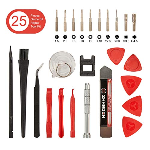 Sharden Triwing Screwdriver Set for Nintendo, 25 in 1 Professional Precision Security Screwdriver Game Bit Repair Tool Kit for Nintendo Switch/Joycon/Wii/DS/DSL/NES/SNES/GBA/Gamecube (25 Best Gamecube Games)