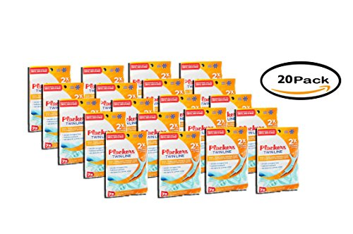 PACK OF 20 - Plackers Twinline Flossups 75ct by Plackers