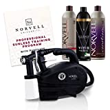 Norvell Sunless Kit - M1000 Mobile HVLP Spray Tan Airbrush Machine + 8 oz Tanning Solutions in Ultra Vivid 'Cosmo', Venetian and Dark + Norvell Training Program (Retail Value $490)