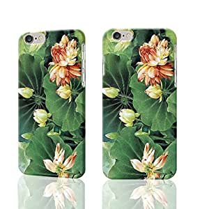 "Green Leaf and Elegant Lotus 3D Rough iphone 6 -4.7 inches Case Skin, fashion design image custom iPhone 6 - 4.7 inches , durable iphone 6 hard 3D case cover for iphone 6 (4.7""), Case New Design By Codystore"