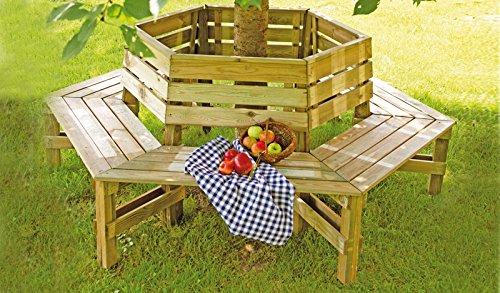 Garten Bank Baum Bank Als Runde Einen Baumstamm Umfassende