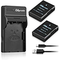 OAproda 2 Pack EN-EL14 / EN-EL14a Battery and Rapid Micro USB Charger for Nikon Coolpix D3100, D3200, D3300, D3400, D5100, D5200, D5300, D5500, P7000, P7100, P7700, P7800,Df DSLR Cameras