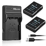 OAproda 2 Pack EN-EL14/ EN-EL14A Batteries and Micro USB Charger for Nikon Coolpix D3100 D3200 D3300 D3400 D5100 D5200 D5300 D5500, P7000 P7100 P7700 P7800 DSLR Cameras(1500mAh,100% compatible)