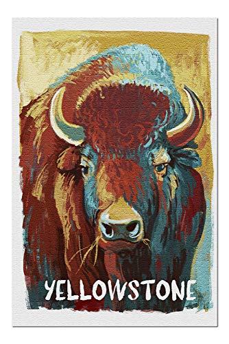 Yellowstone, Wyoming - Bison - Vivid 96433 (20x30 Premium 1000 Piece Jigsaw Puzzle, Made in USA!)