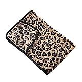 SoundsBeauty Pet Dog Cat Bed Cover Blanket Leopard Print Zebra Cow Warm Soft Sleep Mat Gift - S Leopard