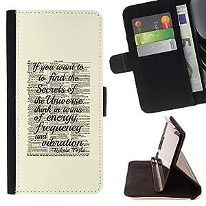 BullDog Case - FOR/Samsung Galaxy A3 / - / secret universe science yellow vintage /- Monedero de cuero de la PU Llevar cubierta de la caja con el ID Credit Card Slots Flip funda de cuer