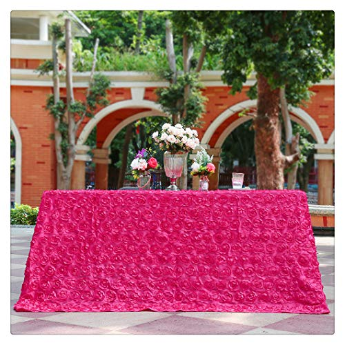 Rose Red Rosette Pattern Rectangle Tablecloth 90