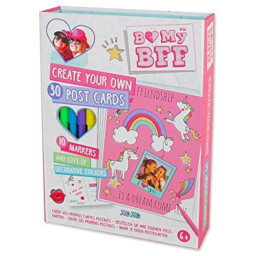 pop up bmybff colourful postcard making kit colour create postcards activity craft set girls