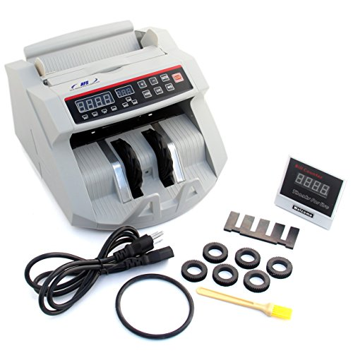 - HFS Bill Money Counter Worldwide Currency Cash Counting Machine UV & MG Counterfeit