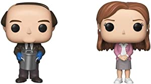 Funko Pop! TV: The Office - Kevin Malone with Chili & Pop! TV: The Office - Pam Beesly