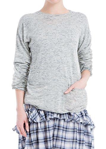 (MAXSTUDIO Round-Neck Pullover Sweater)