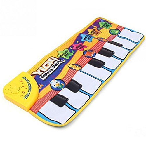 Baby Music Mat Touch Play Keyboard Musical Music Singing Gym Carpet Mat Best Kids Baby Gift