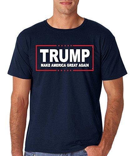 AW Fashions Men's Trump Make America Great Again - MAGA Tee - 45th President 2020 Trump T-Shirt (XX-Large, Navy)