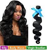 Rechoo Brazilian Virgin Remy Human Hair Extension Weave 60g - Natural Black,16