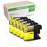 Inkjetcorner 5 YELLOW Compatible Ink Cartridges + Chip Replacement for LC203Y LC203XL MFC-J460DW MFC-J480DW MFC-J485DW MFC-J680DW MFC-J880DW MFC-J885DW
