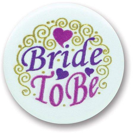 Bride Satin Button Party Accessory