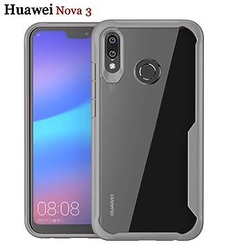 ZSCHAO Funda Huawei Nova 3 antigolpes Airbag Carcasa Slim Fit HD Transparente Funda Anti Amarillo Suave TPU Silicona hibrida Ligero Case Cover Rugged ...