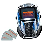 MagiDeal Solar Auto Darkening Welding Helmet, Various Pattern, MIG TIG ARC MMA MAG Grinding Mask Hood - Ghost Fire