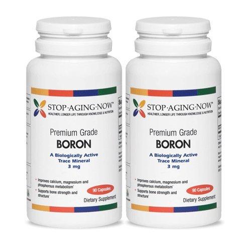 CAPSULES DE BORE 3 mg. Premium Grade. Gluten et de soya | 90 gélules. Made in USA (2 Pack (8,95 $ par bouteille))