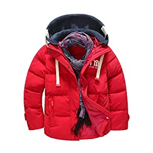 Children Boys Coat Clothes, TRENDINAO Little Boys Thick Warm Windproof Detachable Cap Jackets Outwear