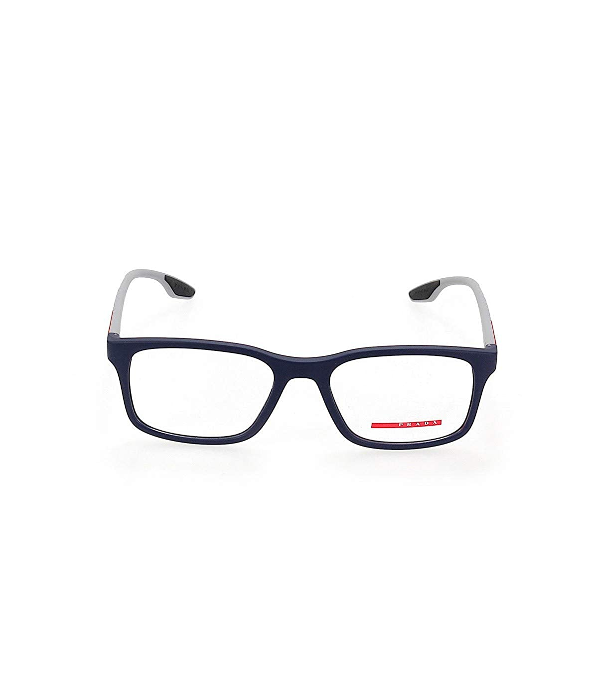ea16e3b7999 Eyeglasses Prada Linea Rossa PS 1 LV 2881O1 BLUE RUBBER at Amazon Men s  Clothing store
