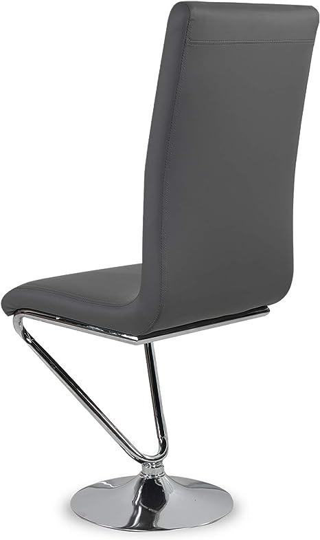 INTENSEDECO Lot de 6 chaises Design Colami Gris