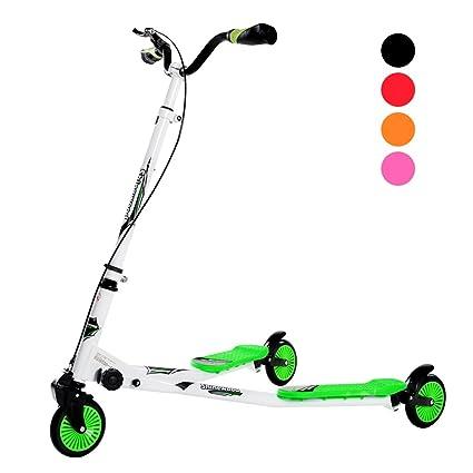 Homcom – Patinete plegable de 3 ruedas, largo, para niños a ...