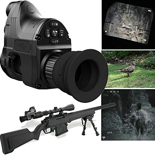 CarboundlessG Pard NV007 4X Infrared Night Vision Monocular,Rfilescope Monocular Digital Magnification Waterproof Hunting IR Telescope with 200M Viewing Range, WiFi Function, HD Camera Video Recorder (Best Telescope For 200)