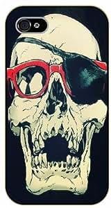 iPhone 5 / 5s Eye patch skull - black plastic case / hipster, tribal