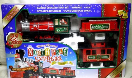 North Pole Express Christmas Train Set G Gauge - Large ()