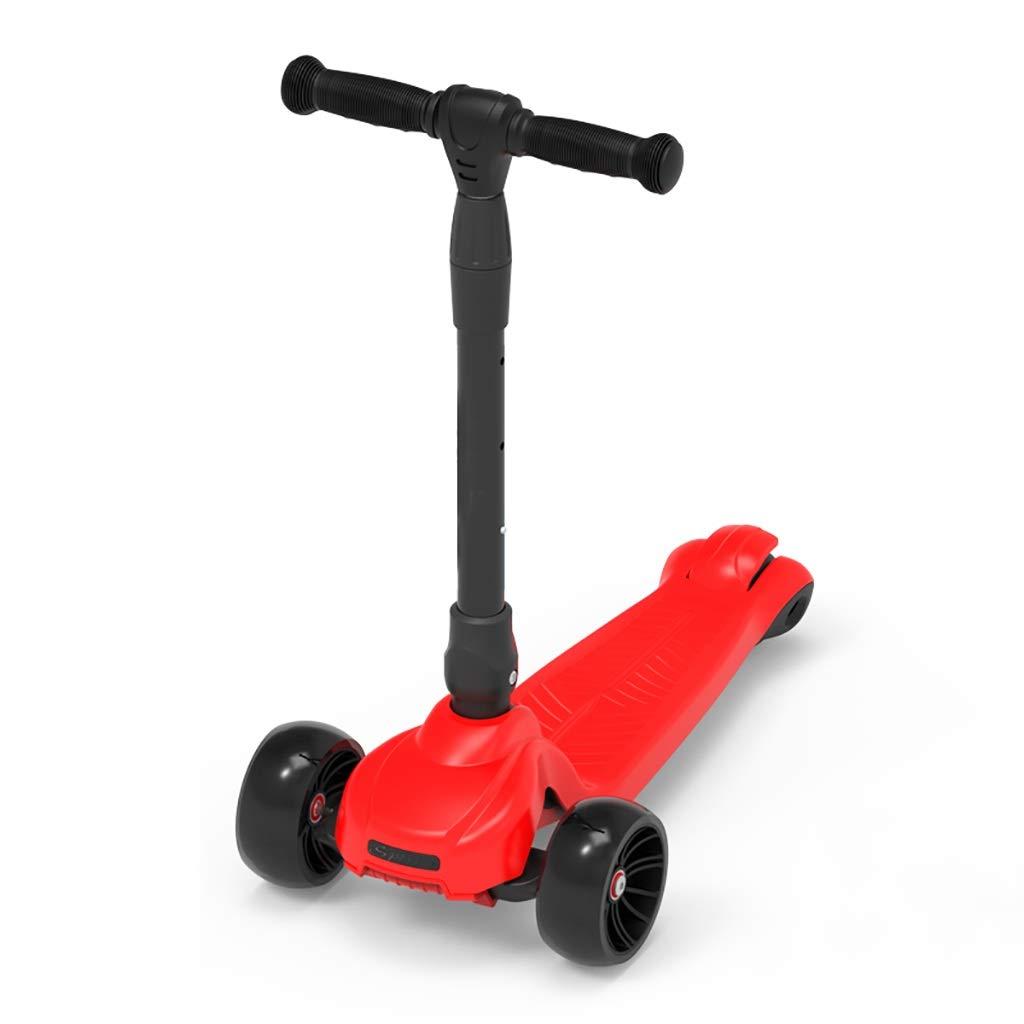 赤い折りたたみスクーター - 調整可能なハンドル&すりガラスの滑り止めペダル - B07R7F6YK4、3歳以上のお子様に最適 B07R7F6YK4, O.K.A.フットボール:aebe7a86 --- rjatechnologies.com.sg