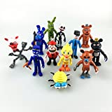 (US) Fnaf Five Nights at Freddy's Action Figures Toys Dolls 12PCS/Set, 4 INCHES HT