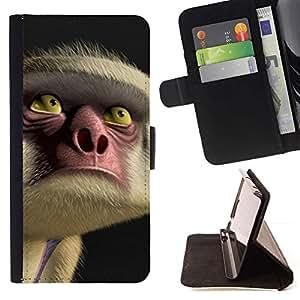 Momo Phone Case / Flip Funda de Cuero Case Cover - Yeux Visage Nez Cartoon - Samsung Galaxy Core Prime