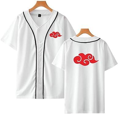 HOSD Chaqueta de béisbol Naruto Akatsuki Disfraz Anime Camisa de béisbol Camisetas de Manga Corta Hip Hop Uchiha Itachi Streetwear: Amazon.es: Ropa y accesorios