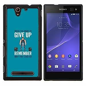 Stuss Case / Funda Carcasa protectora - Pesos de elevación motivación - Sony Xperia C3