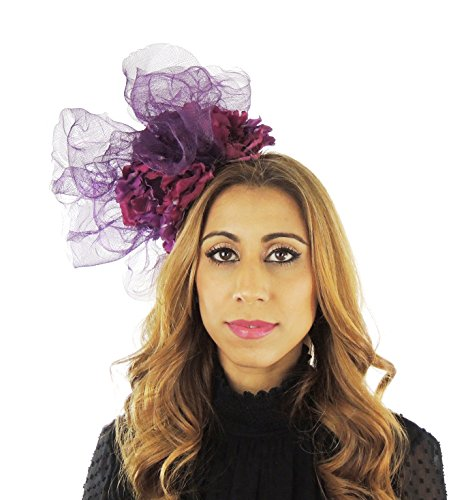 Hats By Cressida Ladies Kentucky Derby Ascot Wedding Fascinator Hat Plum by Hats By Cressida