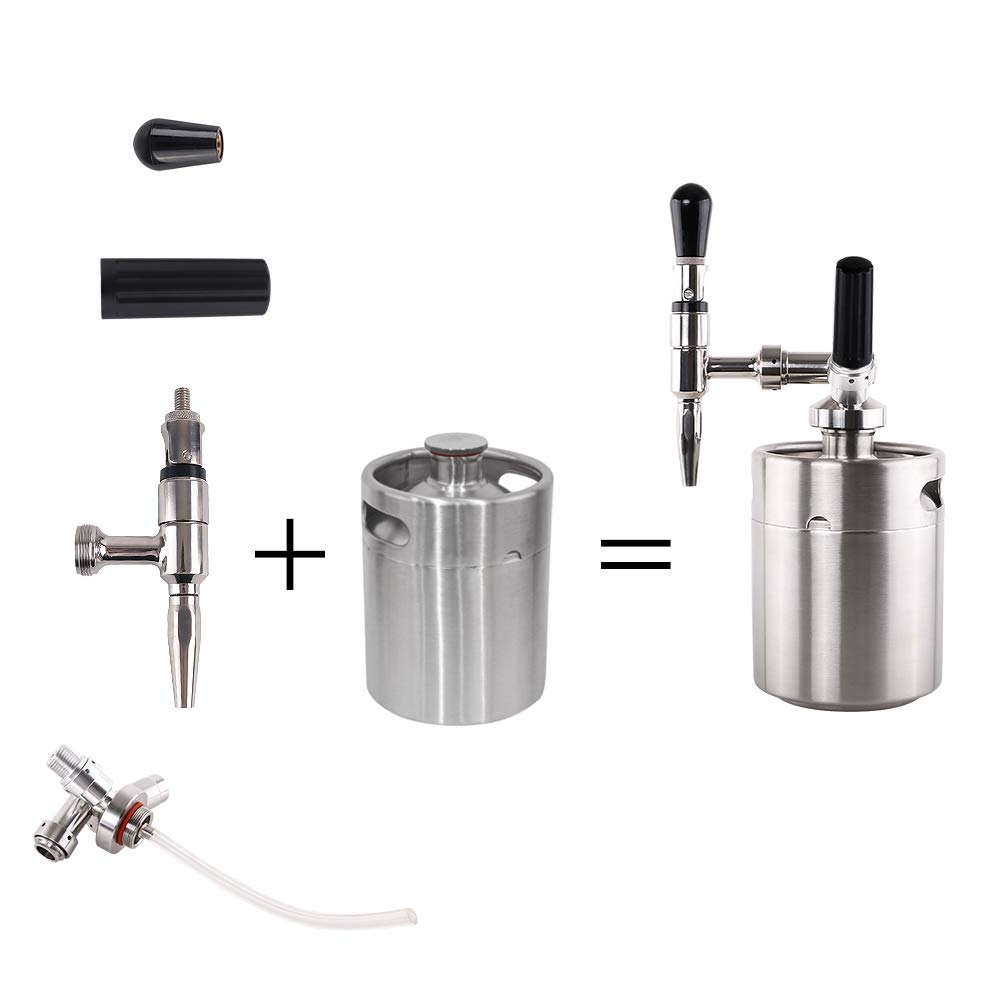 Lamtor Nitro Cold Brew Coffee Maker 64 OZ Mini Stainless Steel Keg Home brew coffee System Kit Best Choice of Diy Coffee Lovers by Lamtor (Image #4)