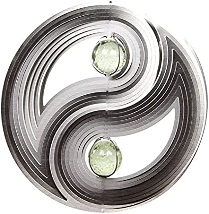 3D Large Yin Yang Wind Spinner with Gem Center Wind Spinner