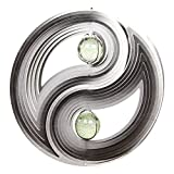 Wind Spinner: 3D Large Yin Yang Wind Spinner with Gem Center