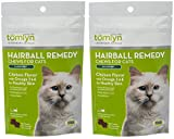 (2 Pack) TOMLYN Laxatone Soft Chews Hairball Formula Cat Treat (60 Count 3.17oz 90g Per Pack)