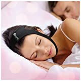 SleepWell Pro Adjustable Stop Snoring Chin Strap (Black)