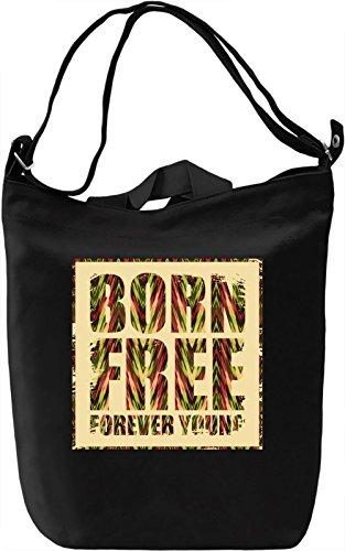 Born Free Borsa Giornaliera Canvas Canvas Day Bag  100% Premium Cotton Canvas  DTG Printing 