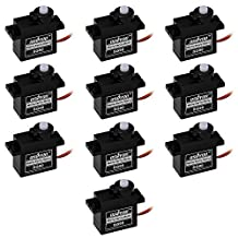 Osoyoo 10PCS micro servo motor SG90 9G for Rc Robot 6ch Helicopter Airplane Controls Arduino Raspberry Pi 2 3