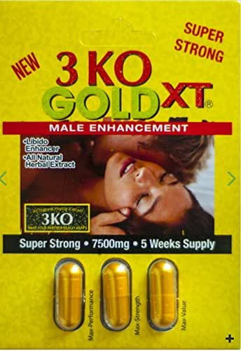3 KO Gold XT 7500mg Male Sexual Performance Enhancer 5 Weeks Supply (2)