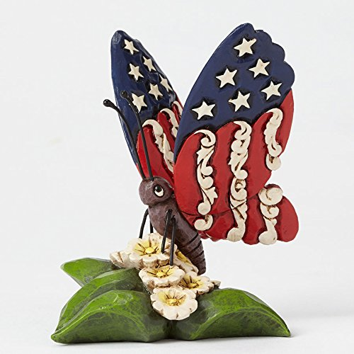 Enesco Jim Shore Patriotic Miniature Butterfly