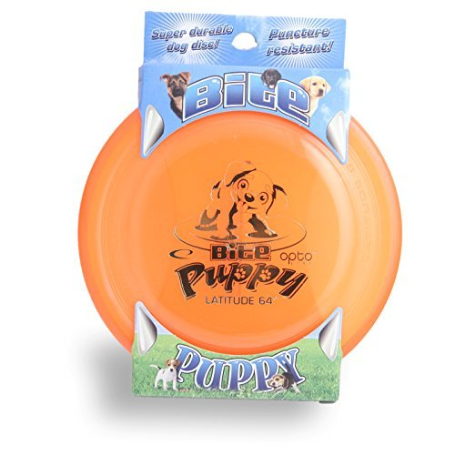 Latitude 64 Golf Discs Opto Line Bite Puppy High Durability K9 Dog Flying Disc - Orange